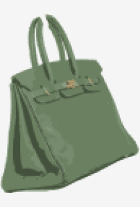 Grey-green Hermes Handbag