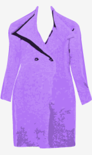 Lavender J.Crew Double Breasted Coat