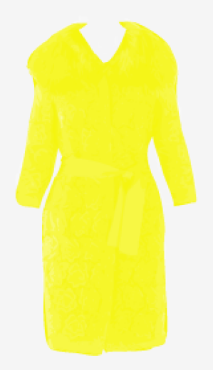 Yellow Dolce & Gabbana Asymmetric