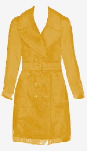 Mustard Burberry Belted Coat