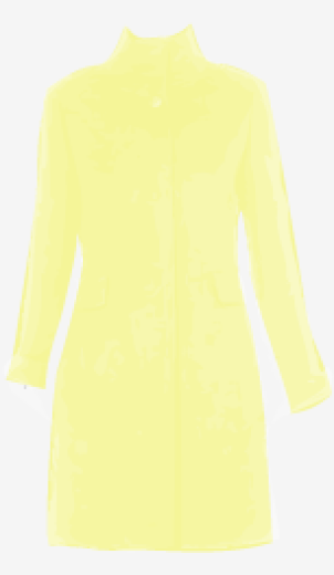 Pale-yellow Max Mara Fitted Coat