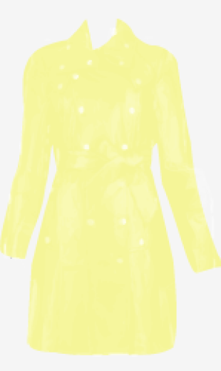 Pale-yellow Alice By Temperley Belted Coat