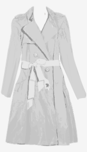 Metal-grey Lanvin A Line Coat