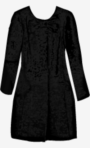 Black Moschino Cheap And Chic A Line Coat