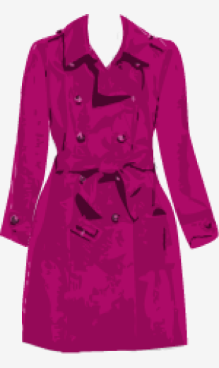 Red-violet Sonia By Sonia Rykiel A Line Coat