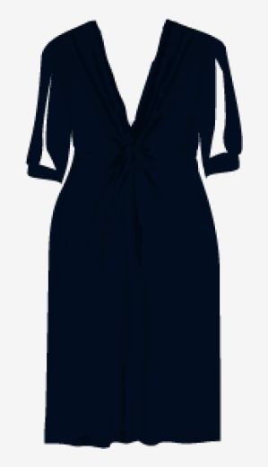 Charcoal-blue Splendid A Line Dress