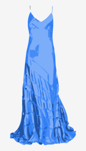 True-blue Roberto Cavalli A Line Dress