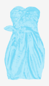 Icy-blue Marc By Marc Jacobs Strapless Dress