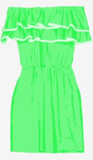 Bright-green T-Bags Mini Dress