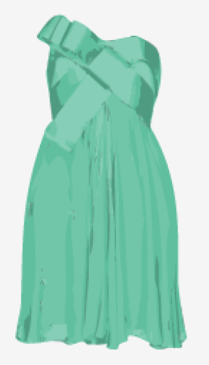 Mint Notte By Marchesa A Line Dress