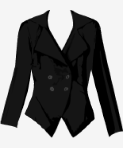 Black Vivienne Westwood Anglomania Double Breasted Jacket