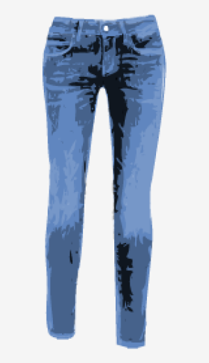 Steel-blue 7 For All Mankind Skinny Jeans