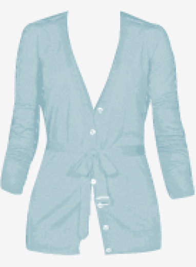 Light-teal Burberry Cardigan
