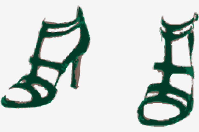 Fern-green Saint Laurent Ankle Wrap Shoes