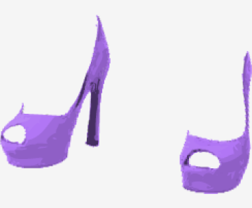 Lavender Saint Laurent Platform Shoes