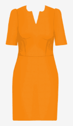 Orange Michaela Jedinak Fitted Dress