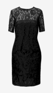 Black French Connection Shift Dress
