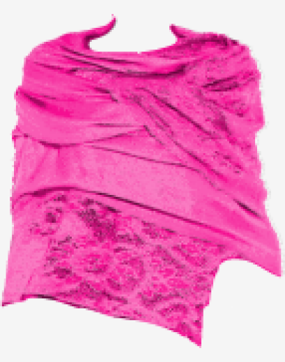Hot-pink Valentino Stole