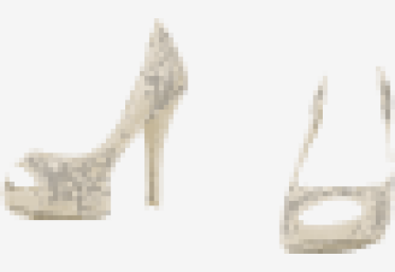Natural-beige Valentino Peep Toes
