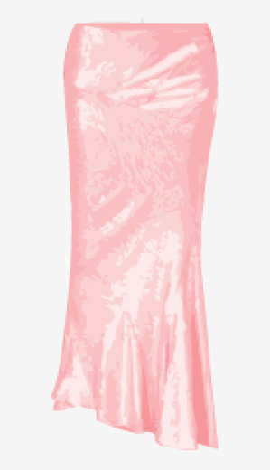 Rose-pink Donna Karan Asymmetric Skirt