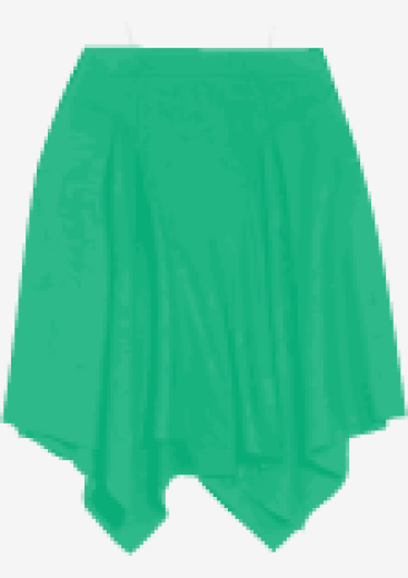 Sea-green Helmut Lang Asymmetric Skirt