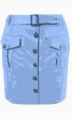 Topshop Belted skirt