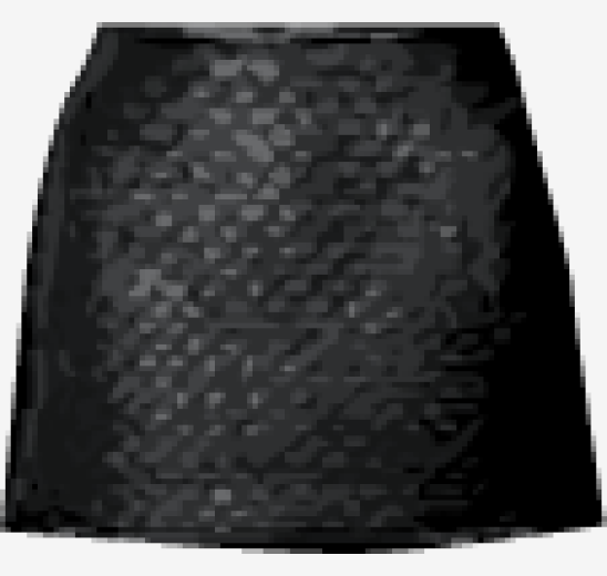 Black Chloe Flared Skirt