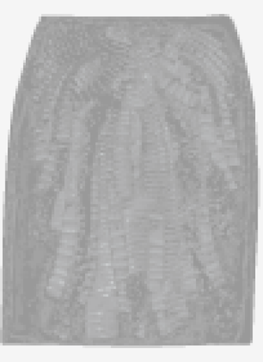 Pewter Alberta Ferretti Straight Skirt