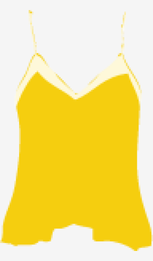 Mellow-yellow Juicy Couture Asymmetric Tops