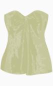 DKNY Bustier Top