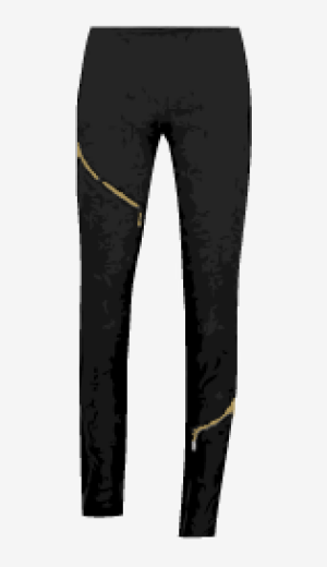 Black McQ Skinny Leg Trousers