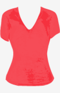 Red James Perse Fitted Top