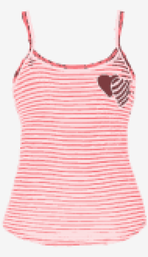 Coral Juicy Couture Fitted Top