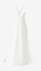 Soft-white Alfred Angelo A Line Dress