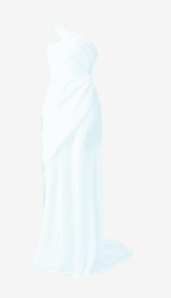 Duck-egg Vera Wang Maxi Dress