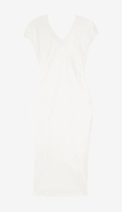 Soft-white Narciso Rodriguez Fitted Dress