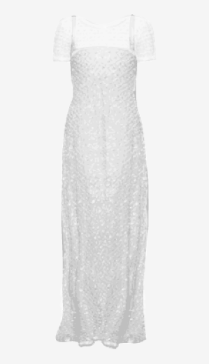 Metal-grey Chanel Couture Fitted Dress