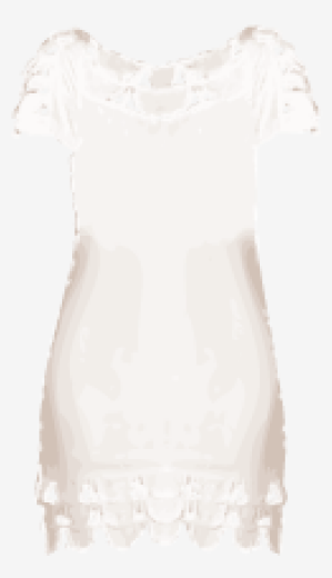 Soft-white Temperley London Empire Dress