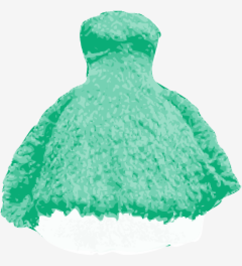Sea-green Alexander Mcqueen Bubble Dress