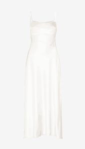 Soft-white Narciso Rodriguez A Line Dress