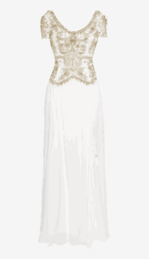 Soft-white Temperley London A Line Dress