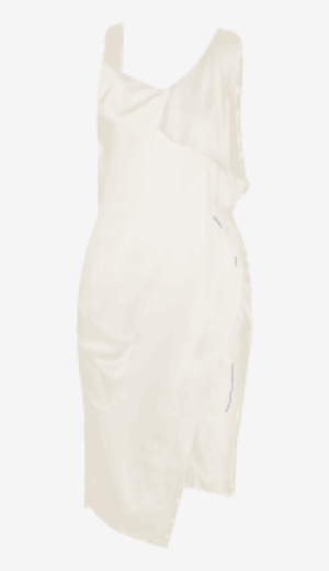 Soft-white Alexander Wang Fitted Dress