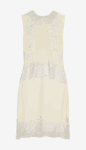 Soft-white Erdem Fitted Dress